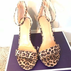 Light leopard suede